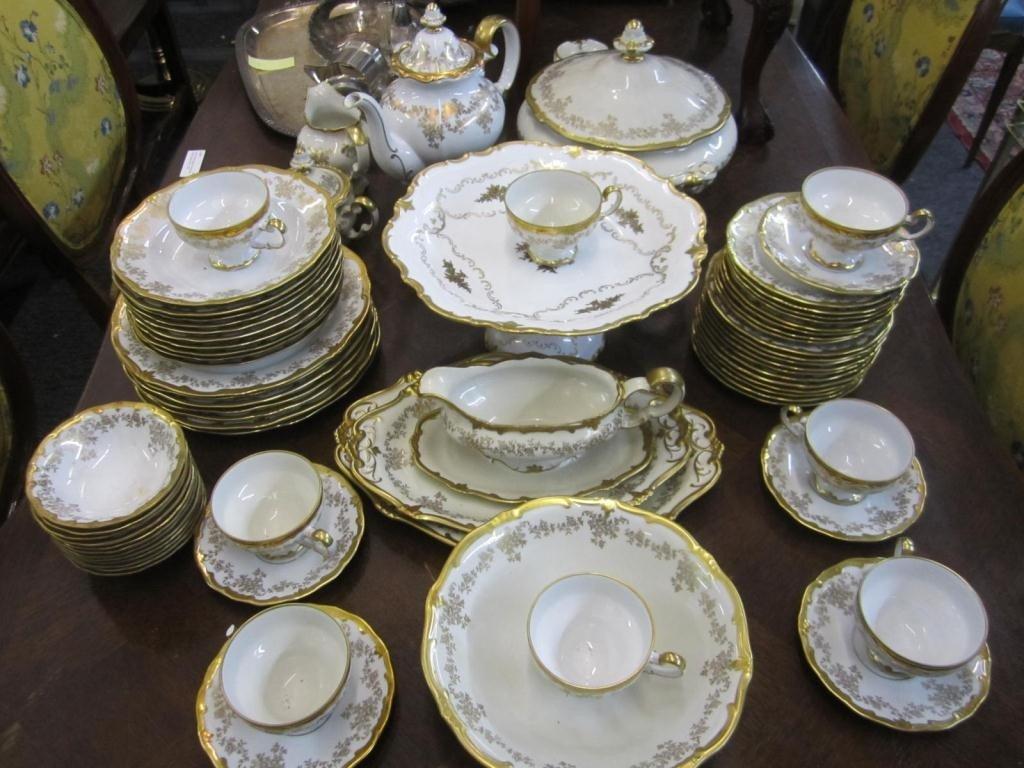 275: 65 Piece Weimar Porcelain Dinner Set