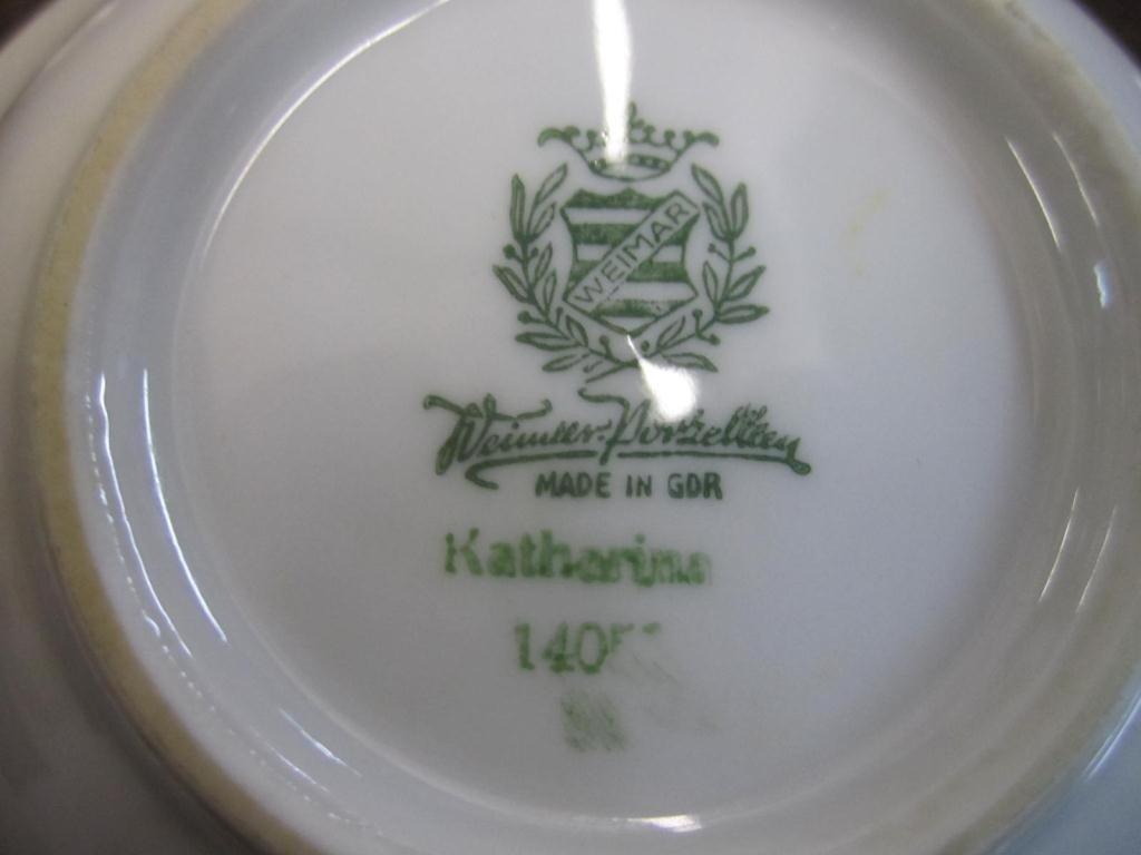275: 65 Piece Weimar Porcelain Dinner Set - 4
