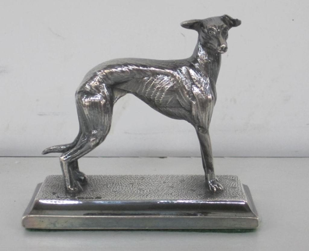 12: English Silver Miniature Whippet