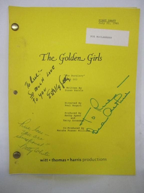 "142: Golden Girls Script ""The Burglary"" #003"