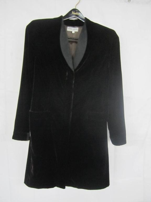 9: Giorgio Armani Black Velour Jacket