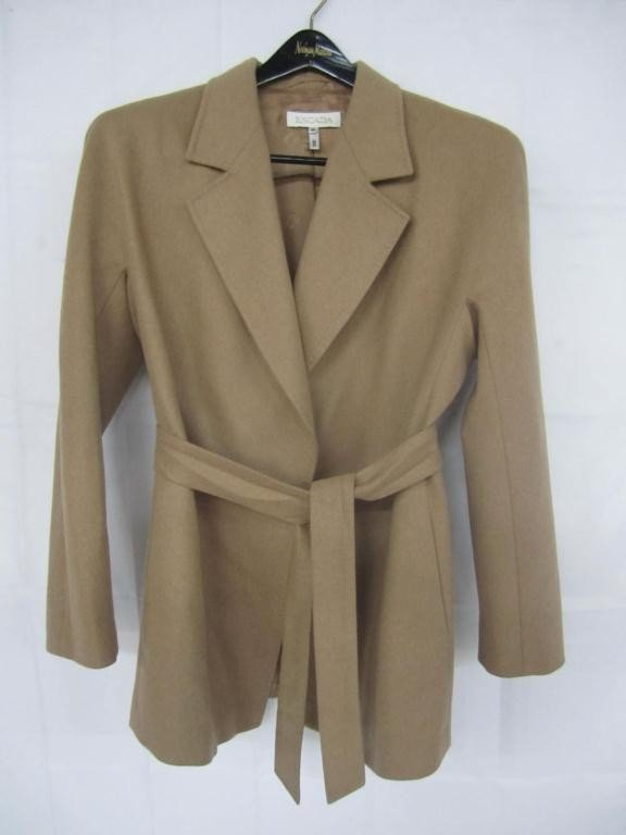 12: Escada Camel Hair Jacket with belt