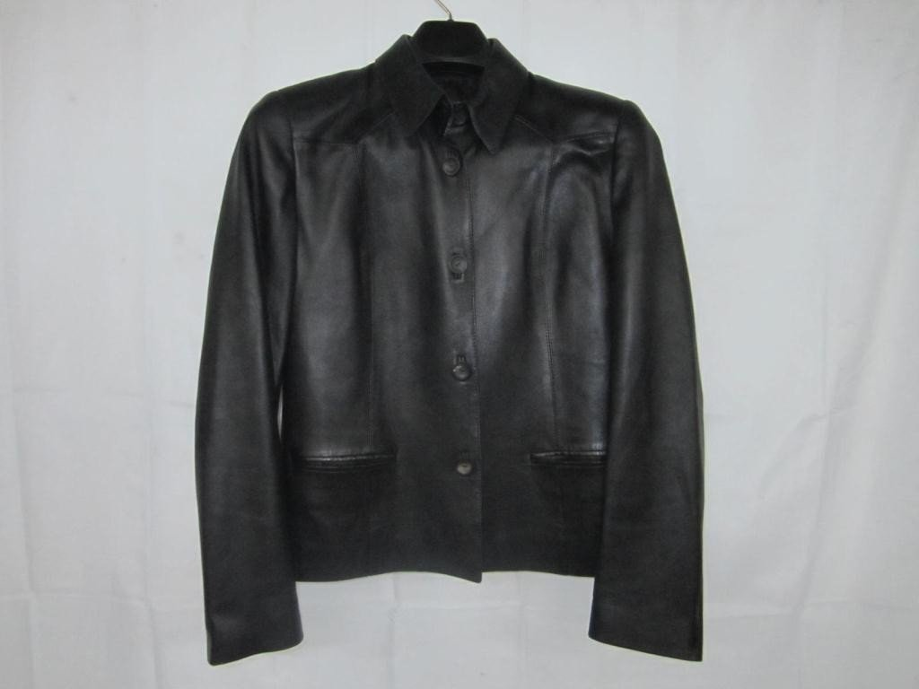 13: Bergdorf Goodman Collection Black Leather Jacket