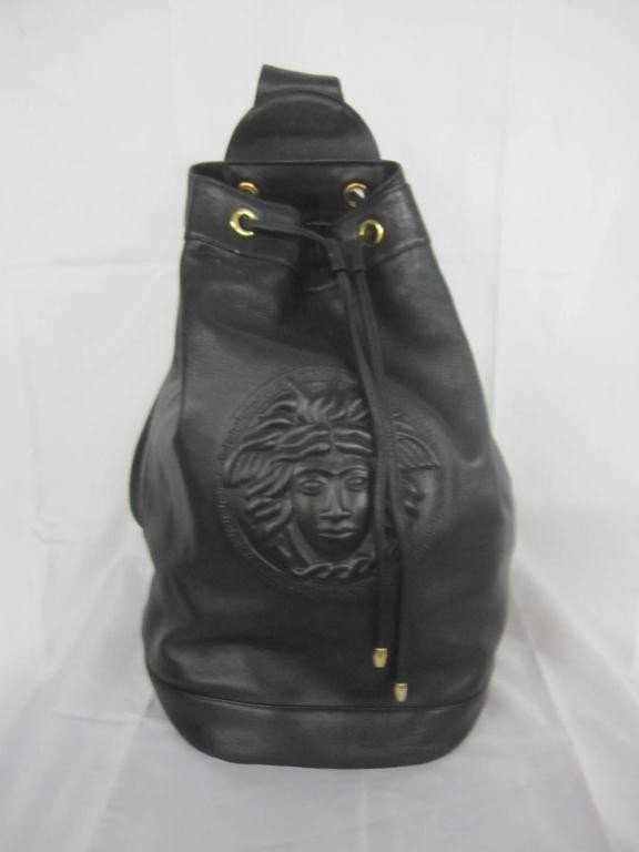 17: Gianni Versace Couture Leather Knap Sack