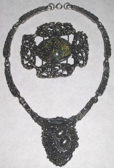23: Robert Larin Necklace and Silver Plated Buckle