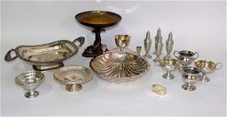 9 Assorted Silver Plated Articles