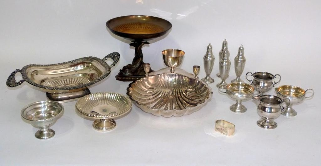 9: Assorted Silver Plated Articles