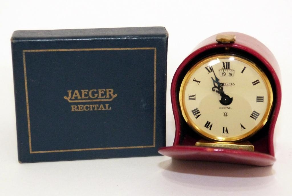 21: Jaeger Recital Travel Clock in Case