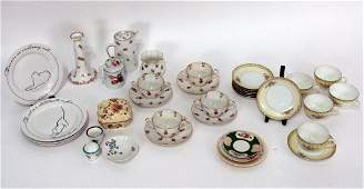 33 Assorted Porcelain Articles  Limoges and