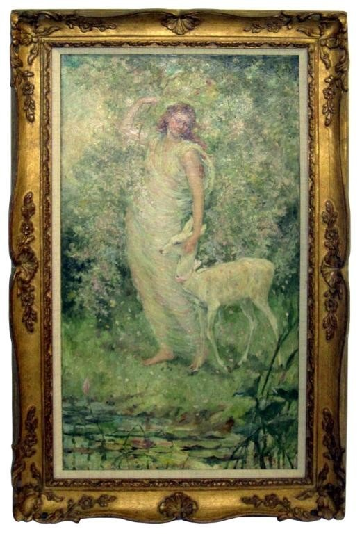 200: Frederick Stuart Church - Maiden with Fawn