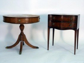 2 - Drum Table And End Table