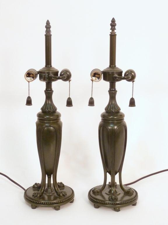 108: Pair Art Nouveau Style Lamp Bases