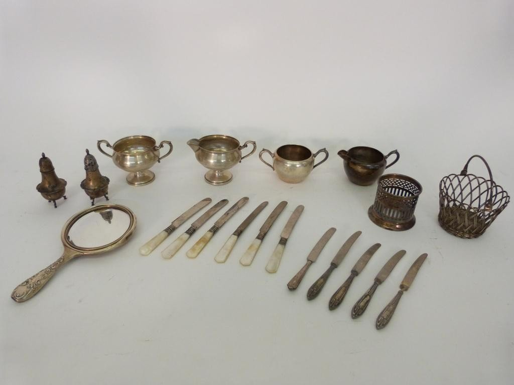 5: Assorted lot of Silver Plated and Silver Articles