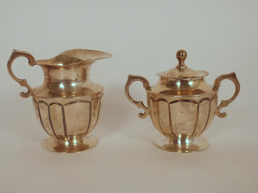3: Mexican Sterling Silver Creamer and Sugar