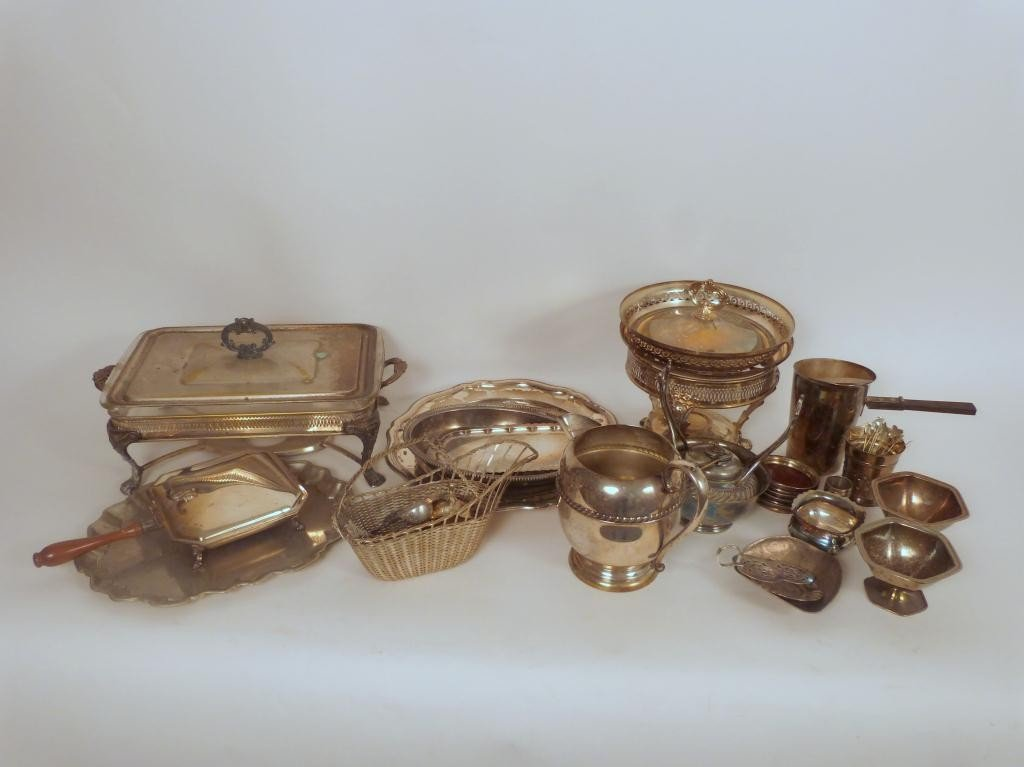 10: Assorted Silver Plated Serving Ware Etc.