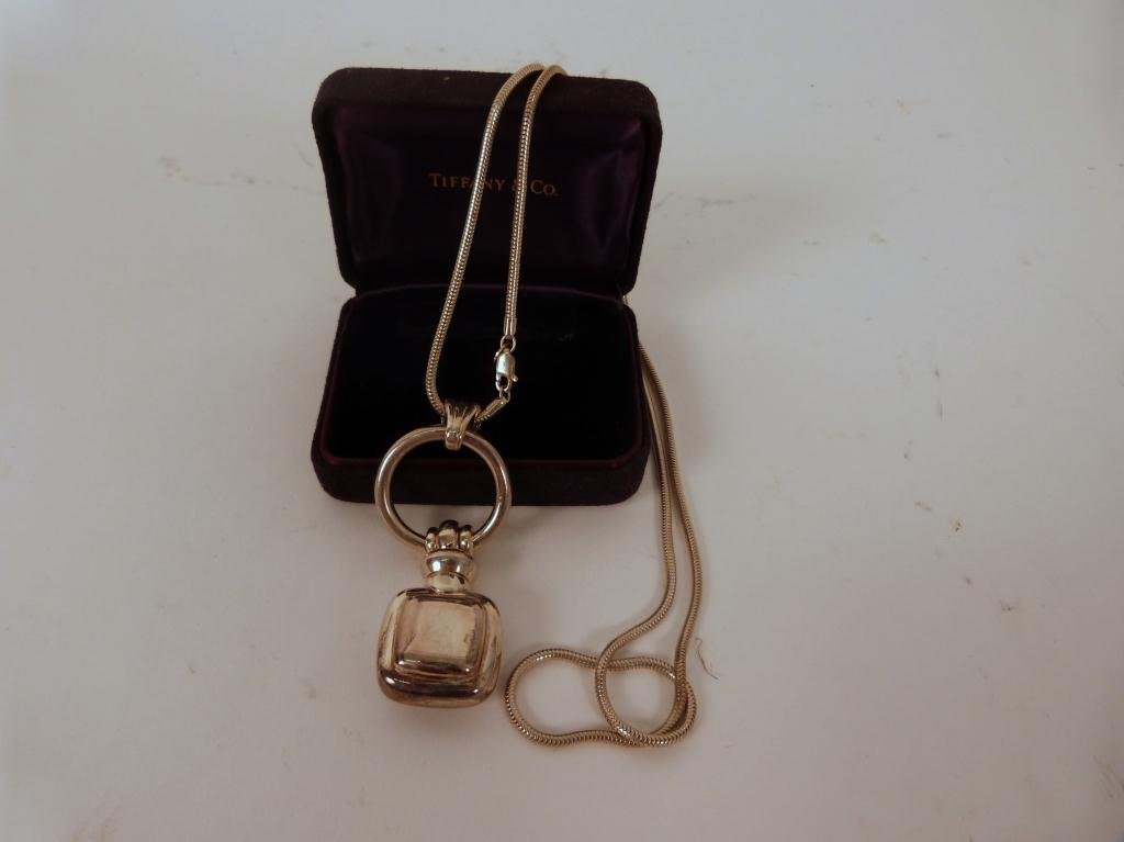 16: Tiffany Sterling Silver Fob on Chain