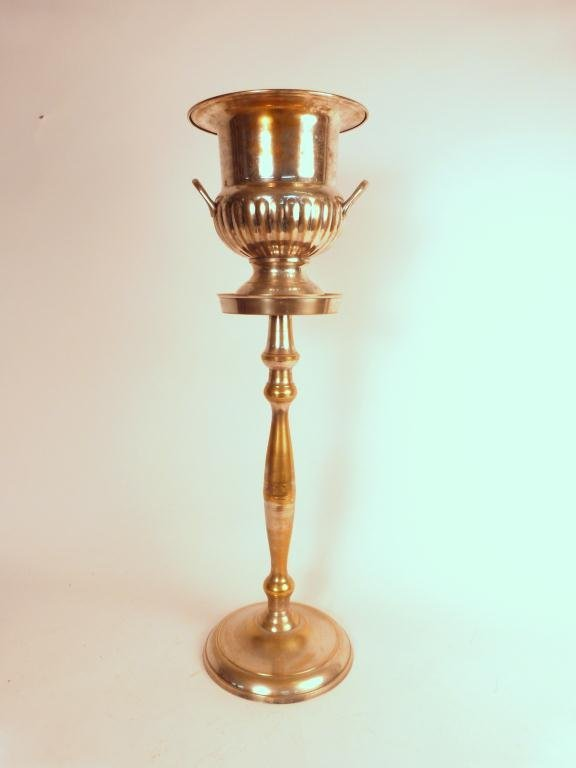 1: Silver Plated Champagne Cooler on Stand