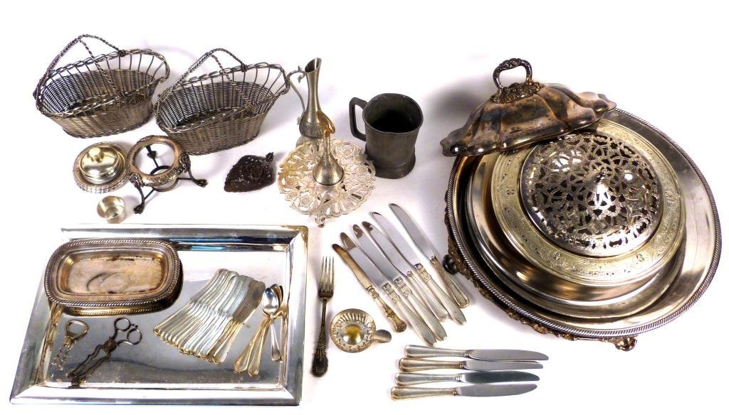 3: Large Lot Assorted Silver Plated Articles