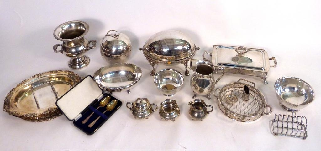 13: Large Lot Silver Plated Articles