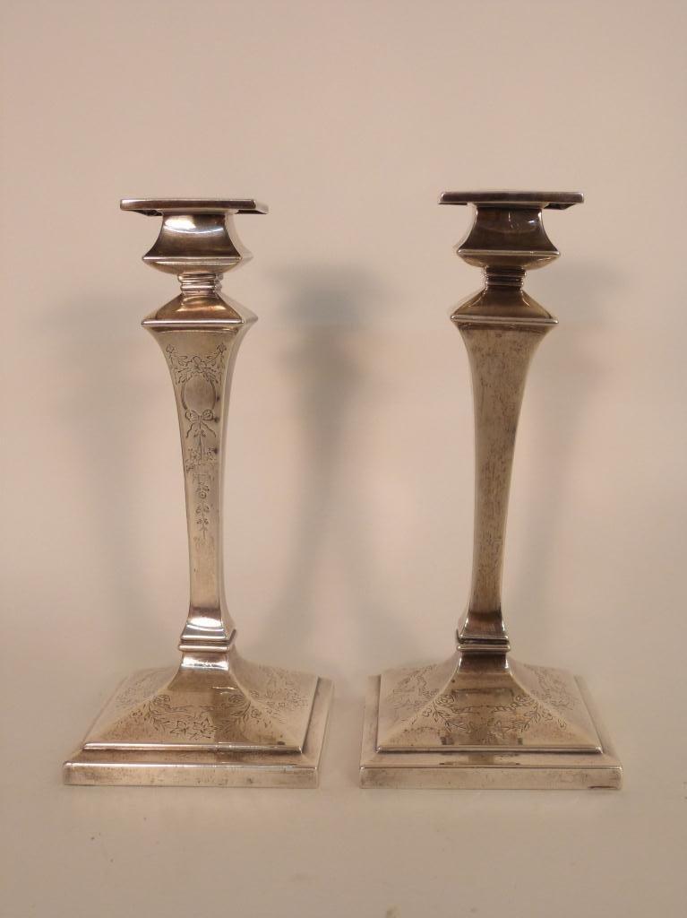 16: Pair Gorham Sterling Silver Candlesticks