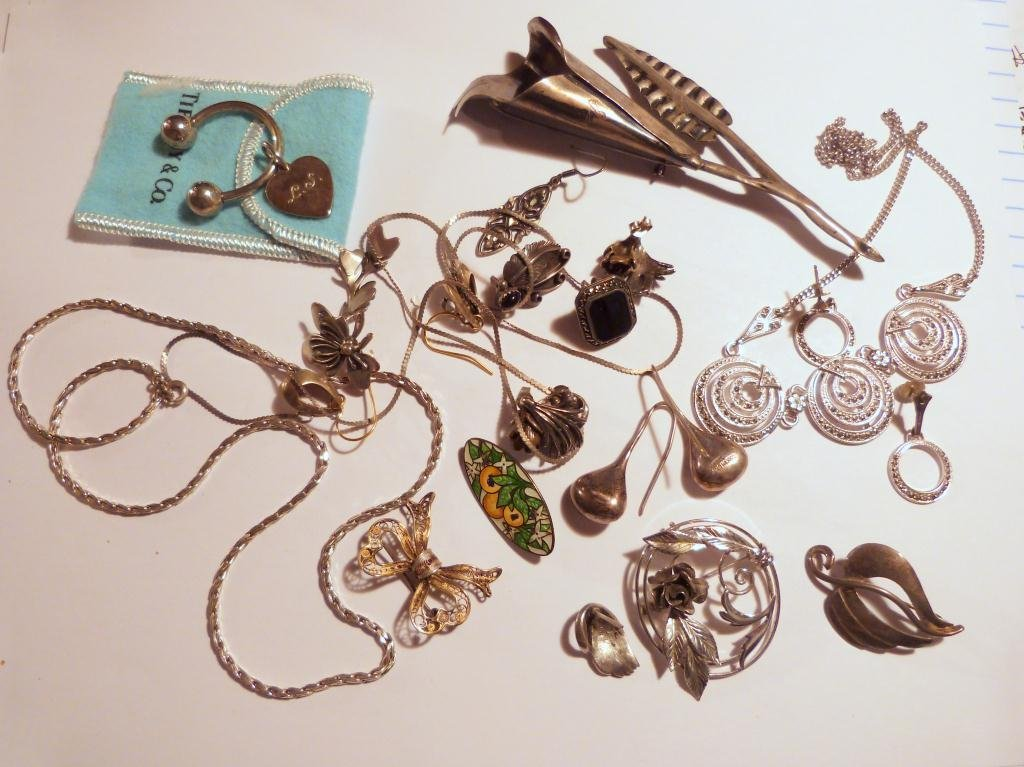 26: Assorted Sterling and Silver Jewelry