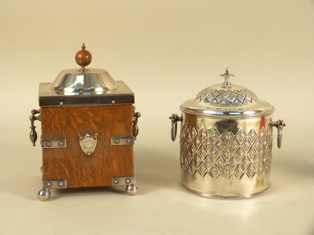 4: Two Antique Biscuit Boxes