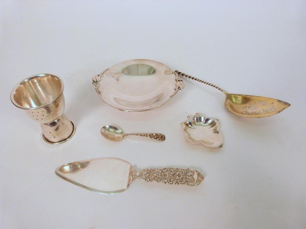 7: Lot of 6 Pieces of Assorted Silver, incl. Tiffany