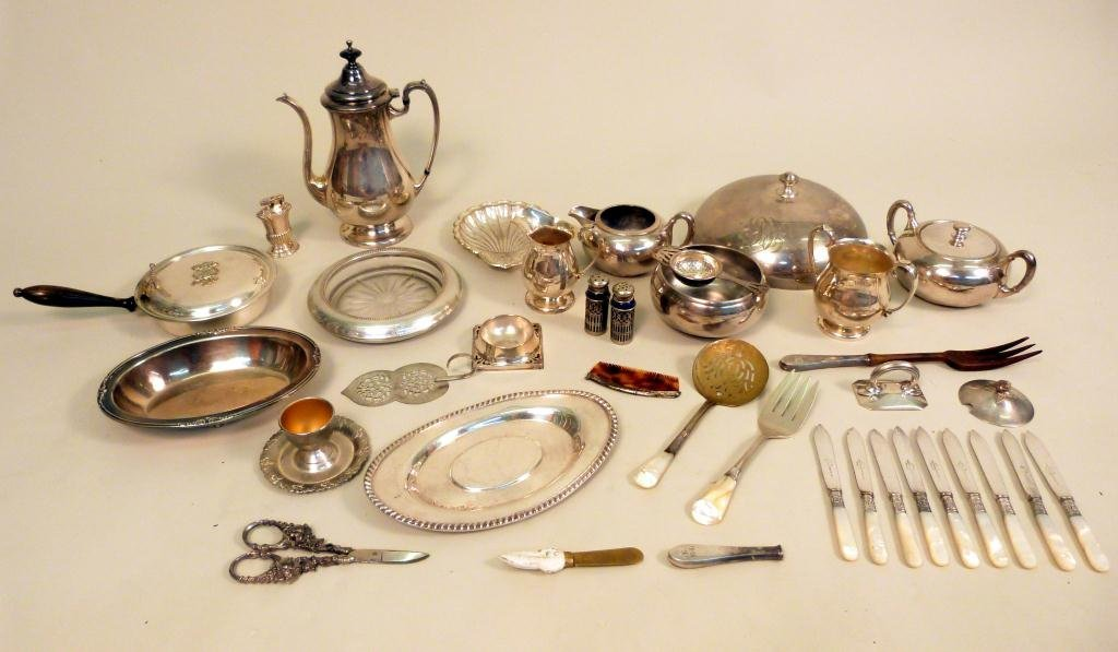 8: Large Lot of Assorted Silverplate