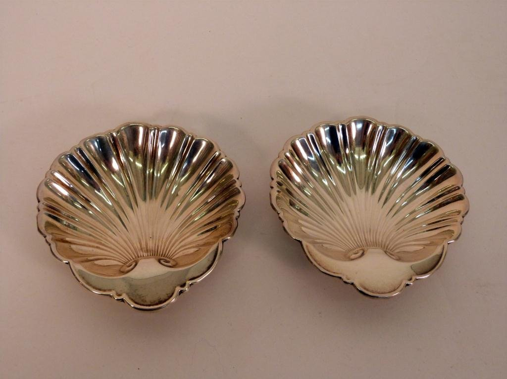 20: Pair Gorham Sterling Shell Shaped Bowls