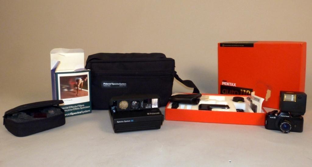 392: Pentax SLR System & Polaroid Spectra System SE