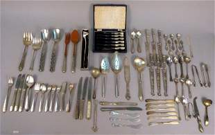 Large Assorted Lot of Silverplate