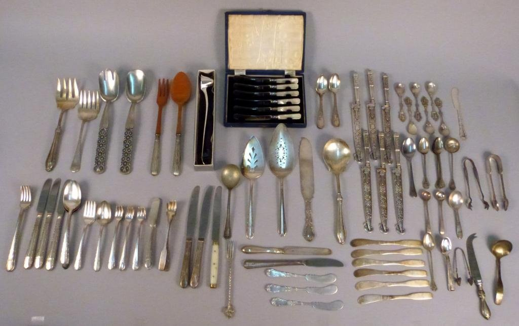 1: Large Assorted Lot of Silverplate