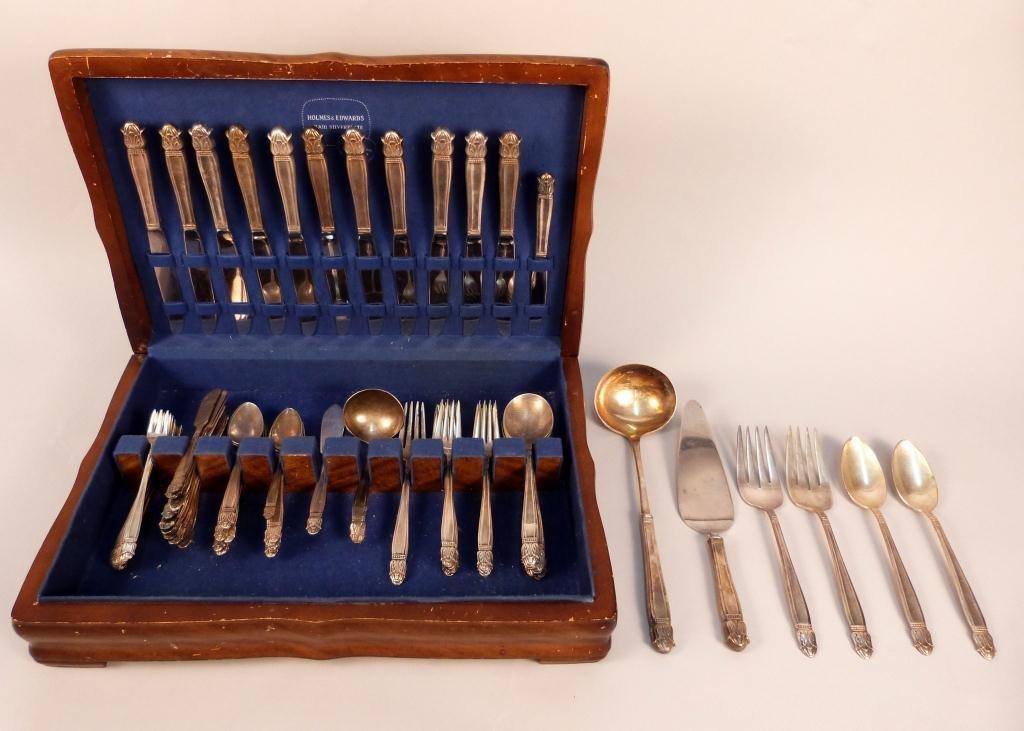 2: Holmes & Edwards Silver Plated Flatware Set