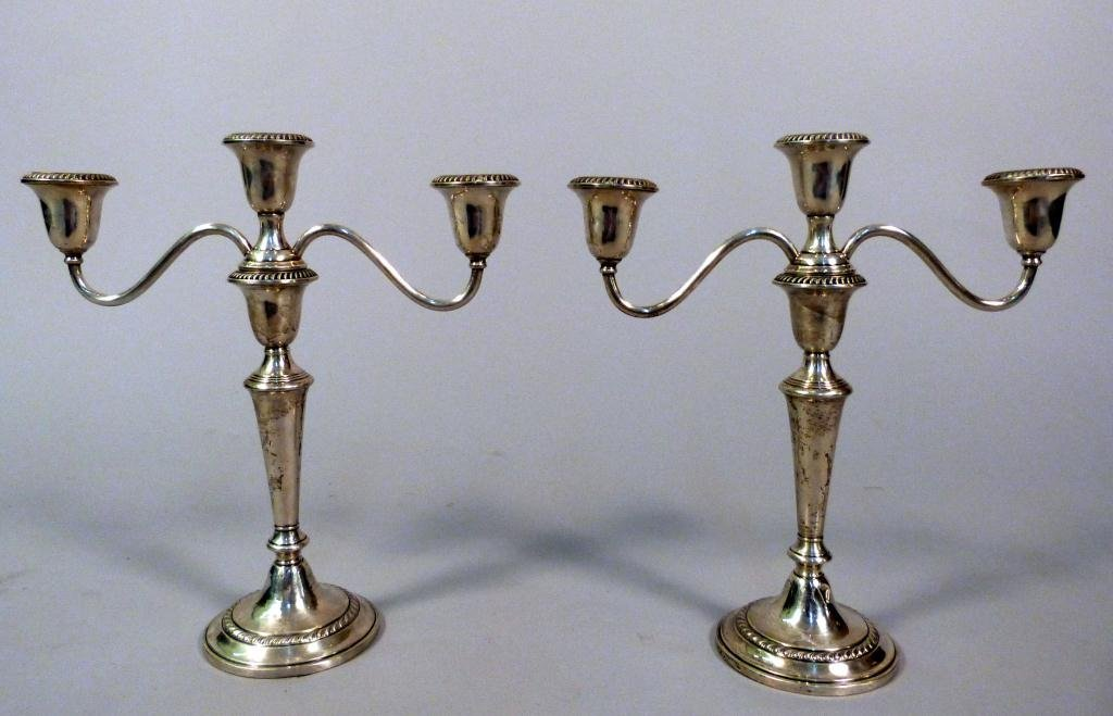 7: Pair Gorham Weighted Sterling Candlesticks