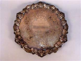 Antique English Silver Large Tray (71 troy oz)