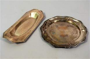 2 Silver Trays - One Sterling (23.5 troy oz)