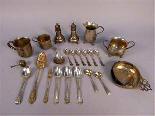23 Pcs of Assorted Sterling & Continental Silver