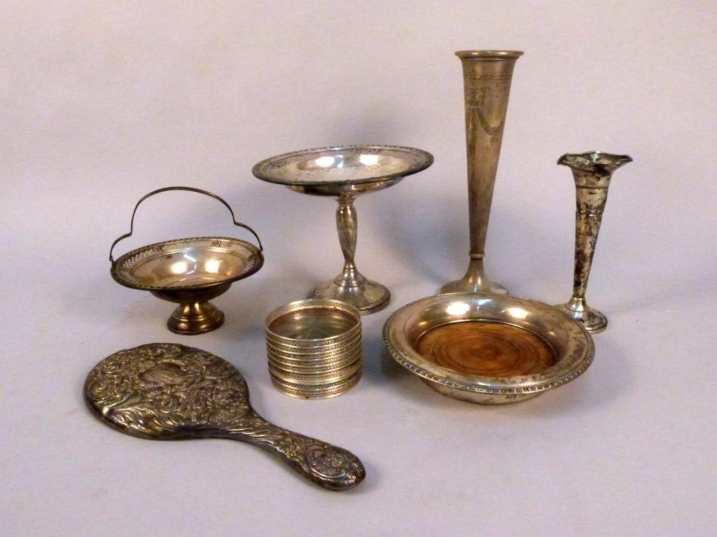 15: Assorted Sterling Silver Mounted Articles