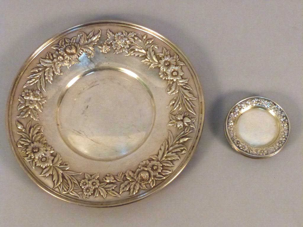 21: Vintage S. Kirk & Son Sterling Tray and ......