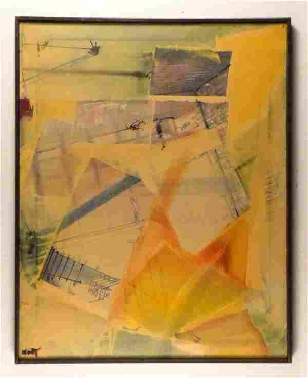 249: Signed Illegibly - Mixed Media on Canvas