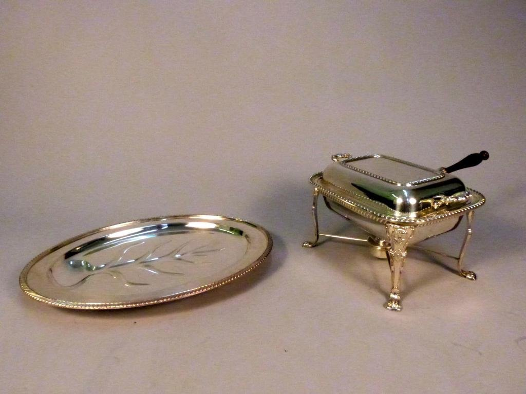 2: 2 Silver Plated Serving Pieces