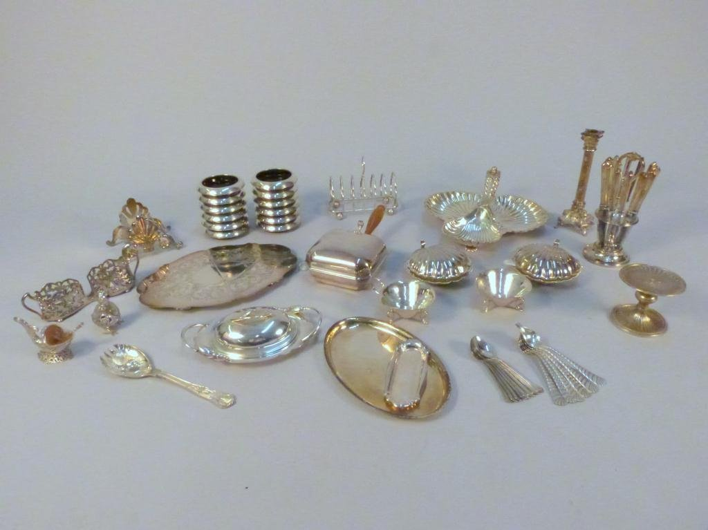 5: Assorted Small Silver Plated Serving Pieces
