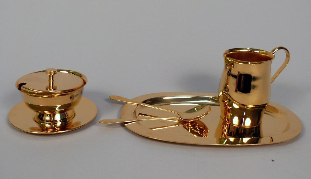 7: 24K Gold Plated Condiment Set