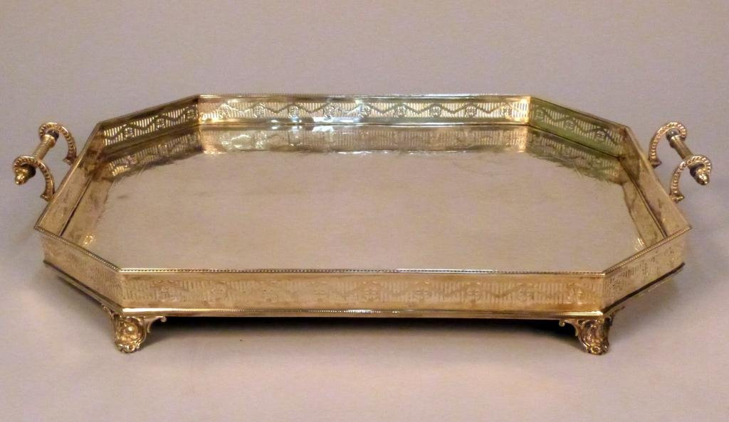 8: Large Silver Plated Serving Tray