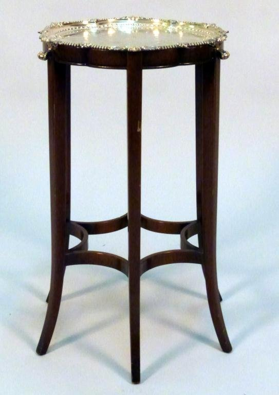 9: English Silver Plated Tray Top Stand