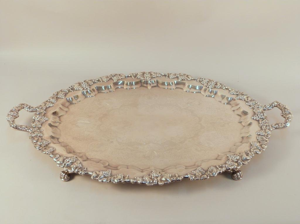 2: Large English Silver Plated Tray