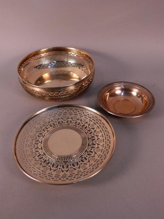 5: 3 Openwork Sterling Silver Serving Pieces