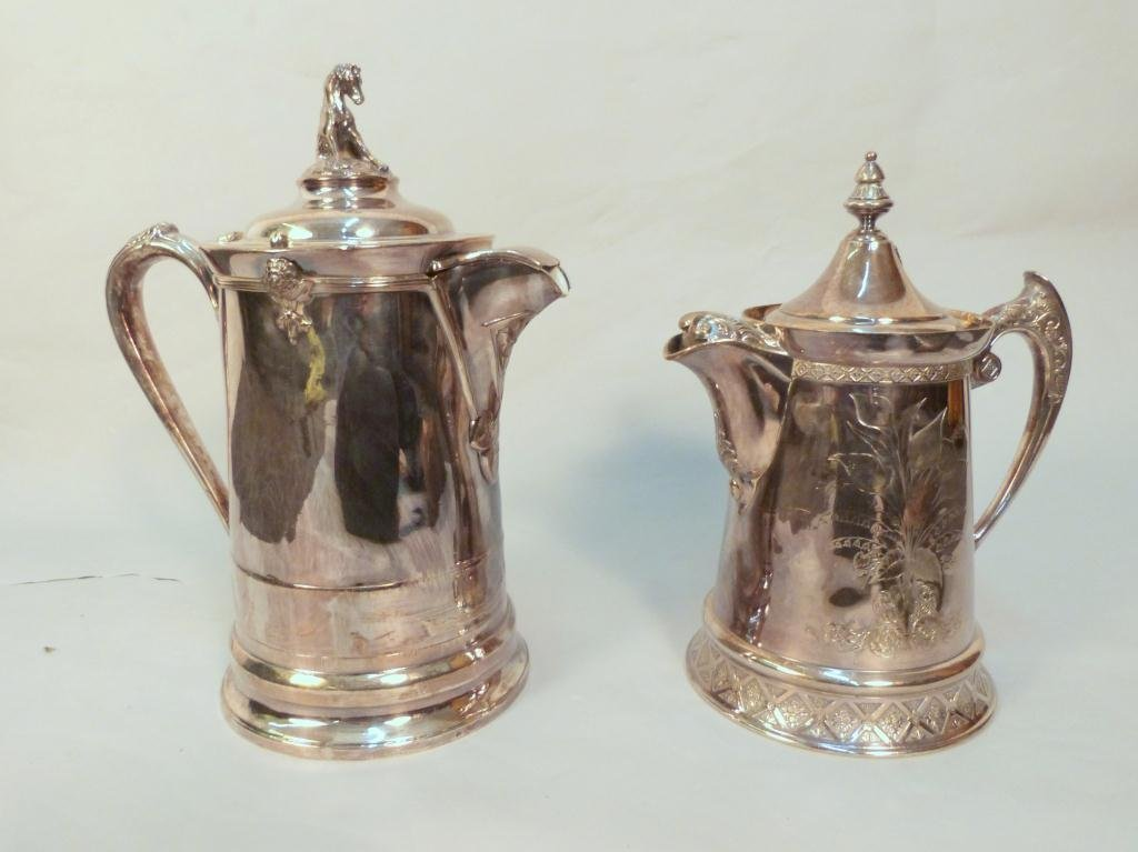 6: 2 Large Reed & Barton Silver Plated Pitchers