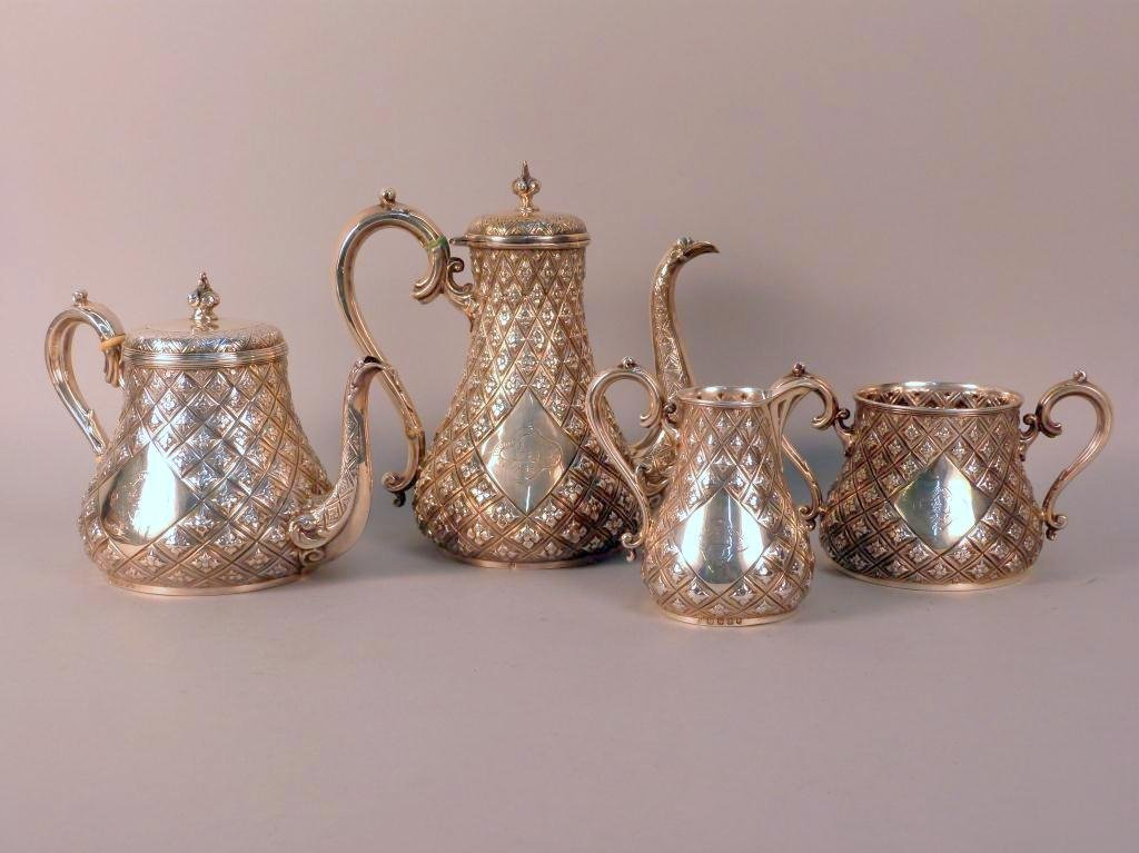 8: Fine English Silver Coffee & Tea Set