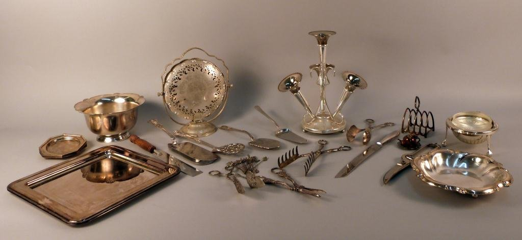 22: Collection of Assorted Silver Plated Articles